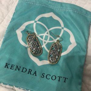 Kendra Scott gold/silver metal earrings